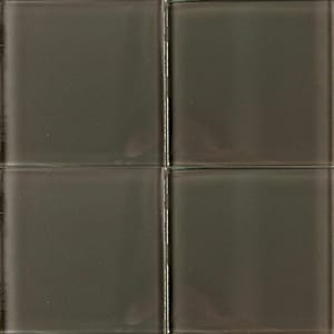Smokey Quartz Glossy Glass Tiles 4x4