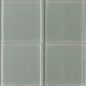 Platinum Glossy Glass Tiles 4x4