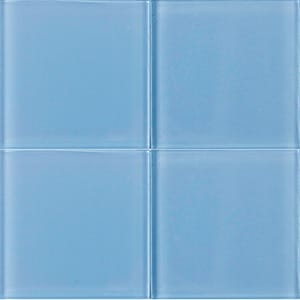 Aquamarine Glossy Glass Tiles 4x4