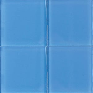 Sapphire Glossy Glass Tiles 4x4