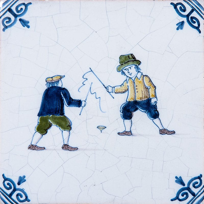 Childrens Games Poly Glazed Ceramic Tiles 4x4