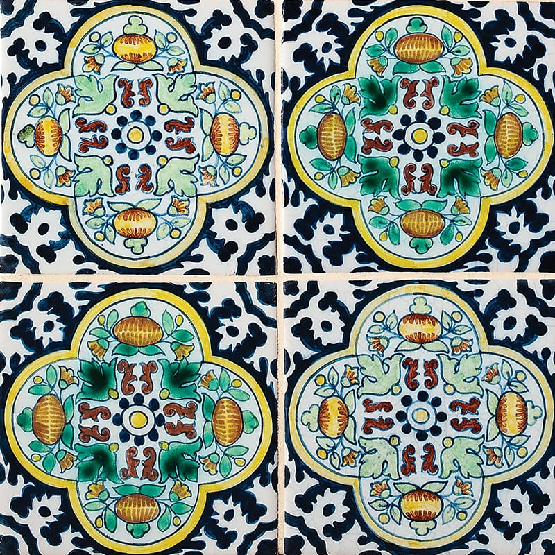 Moorish Poly Glazed Ceramic Tiles 5x5
