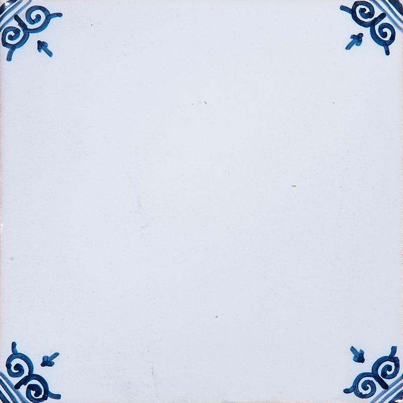 Blanc White W/ Corners Glazed 5x5 Ceramic Tiles