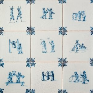Childrens Games Glazed Ceramic Tiles 5x5