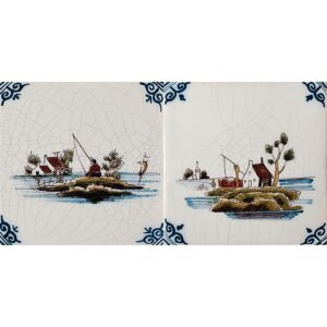 Landscapes Poly Glazed Ceramic Tiles 5x5