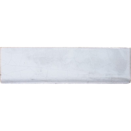 Bullnose Blue Crackled Glazed Ceramic Moldings 1 1/2×5