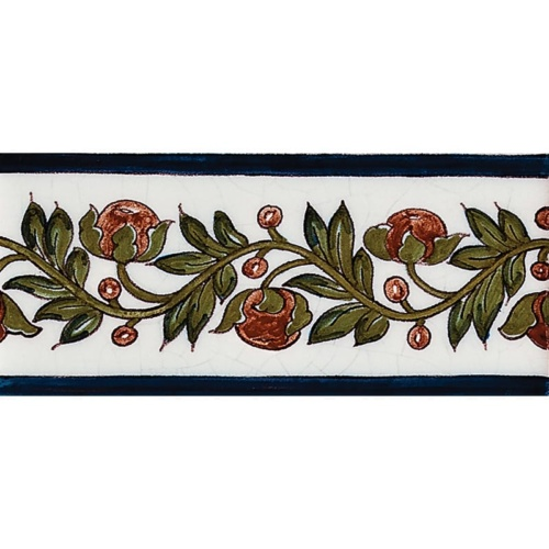Bud Border Poly Glazed Ceramic Borders 2 1/2×5