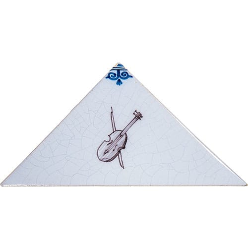 Musical Instruments On Triangle Poly Glazed Ceramic Tiles 5×5