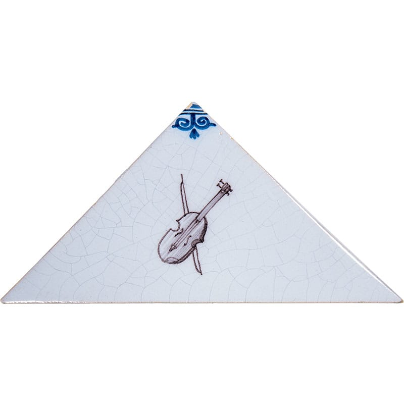 Musical Instruments On Triangle Poly Glazed Ceramic Tiles 5x5