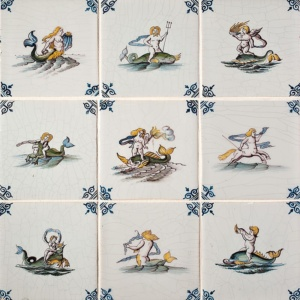 Sea Legends Poly Glazed Ceramic Tiles 5x5
