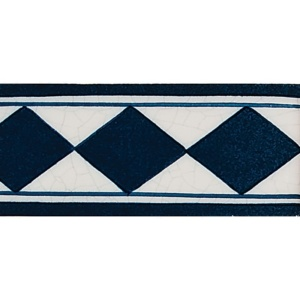 Diamond Blue Glazed Ceramic Borders 2 1/2x5