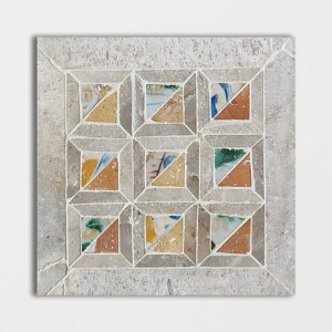 Chana Quilt Honed Limestone Mosaics 8x8