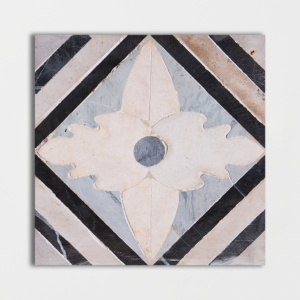 Pompeii Flower Honed Limestone Mosaics 6x6