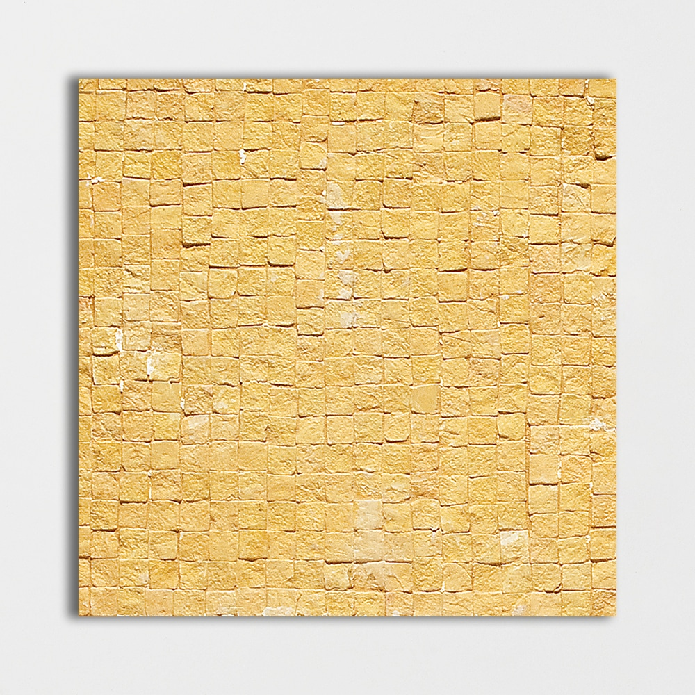 Yellow Honed 8x8 Mosaic Limestone Mosaic