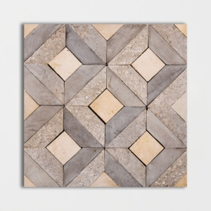 Mogano Honed Visconte Limestone Mosaics 8x8