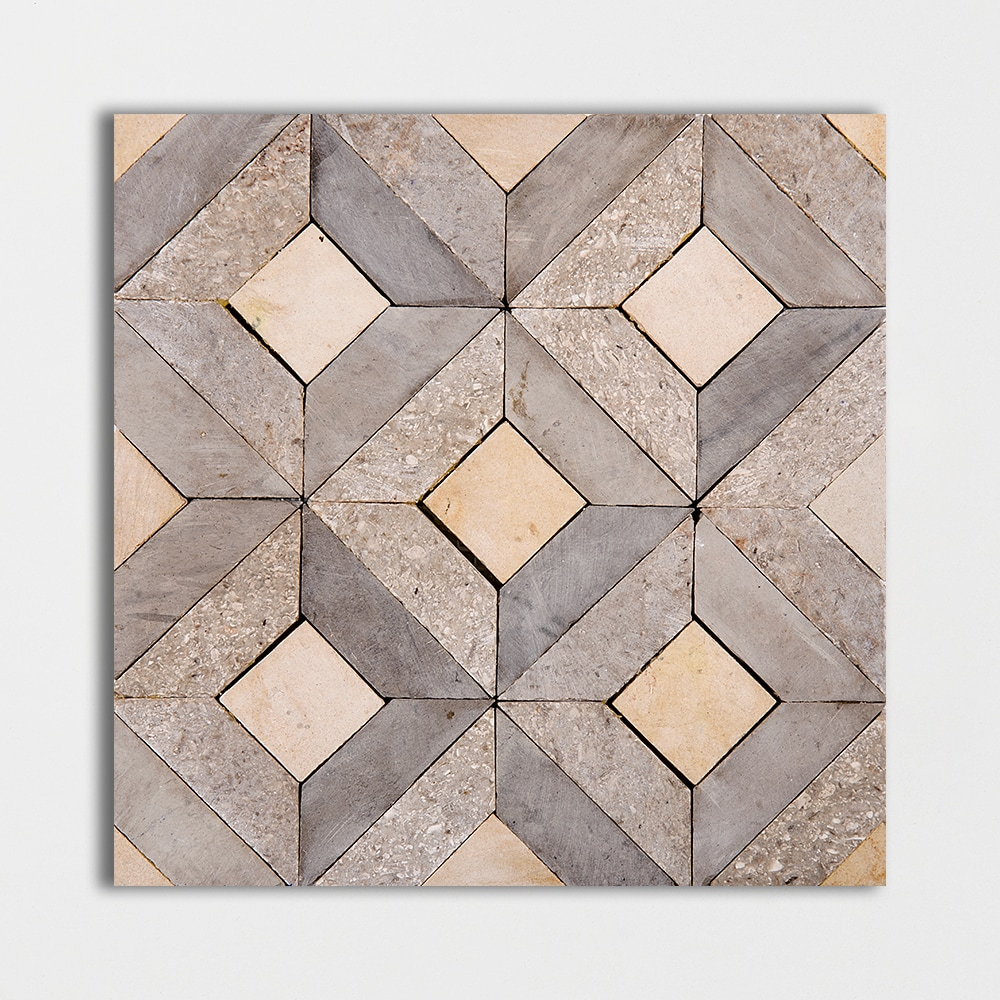 Visconte Mogano Honed 8x8 Mosaic Limestone Mosaic