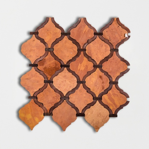Arabesque Honed Terracotta Mosaics 10×10