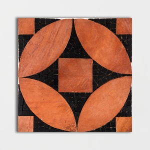 Red, Black Honed Sacchi Terracotta Mosaics 8x8