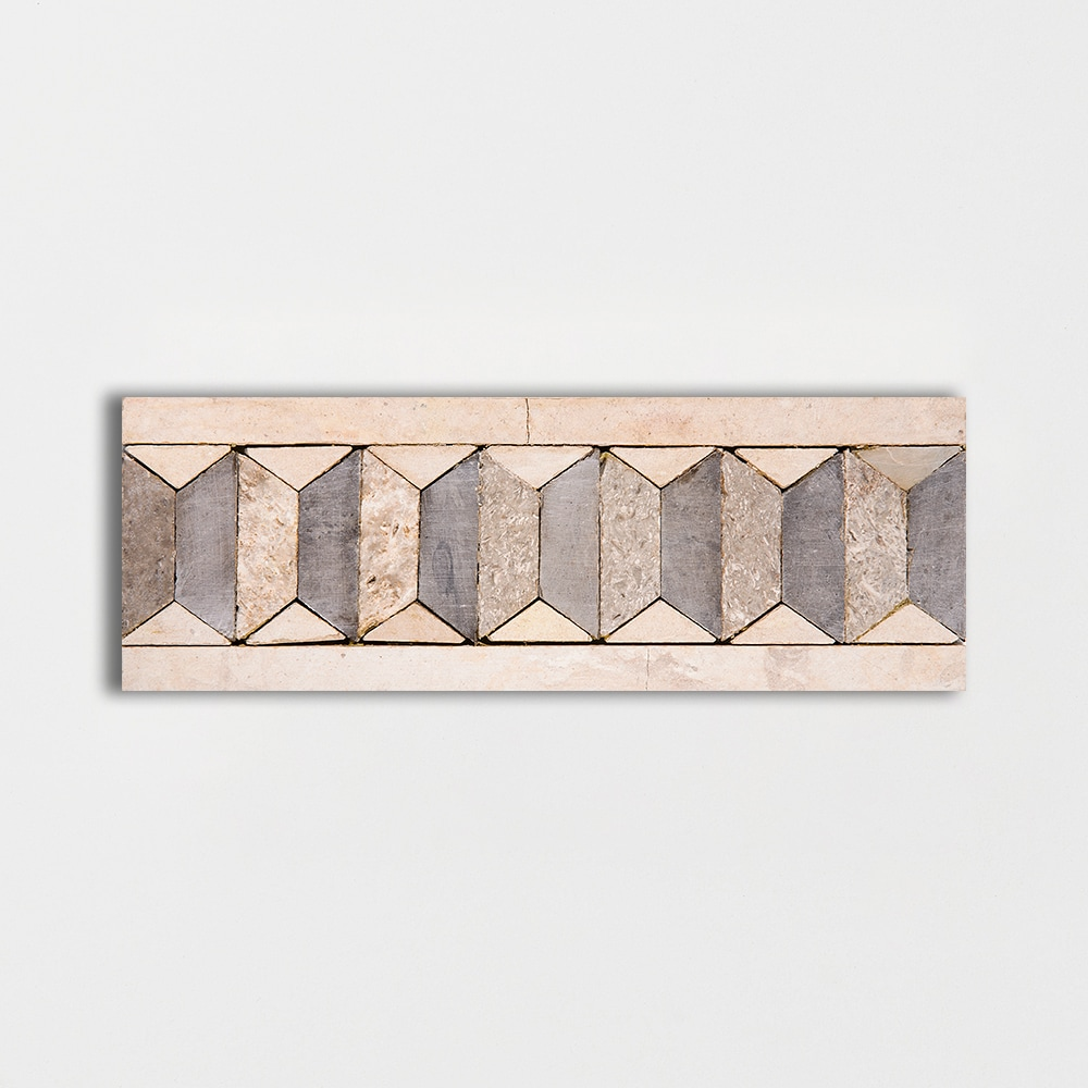 Visconti Pleat Honed 3x8 Mosaic Limestone Mosaic