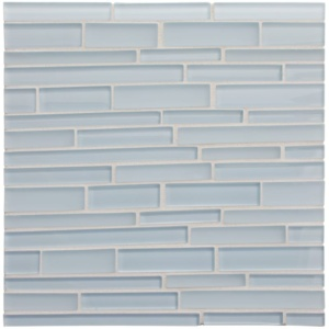 Breeze Gloss/matte Interlocking Slides Glass Mosaics 12x12