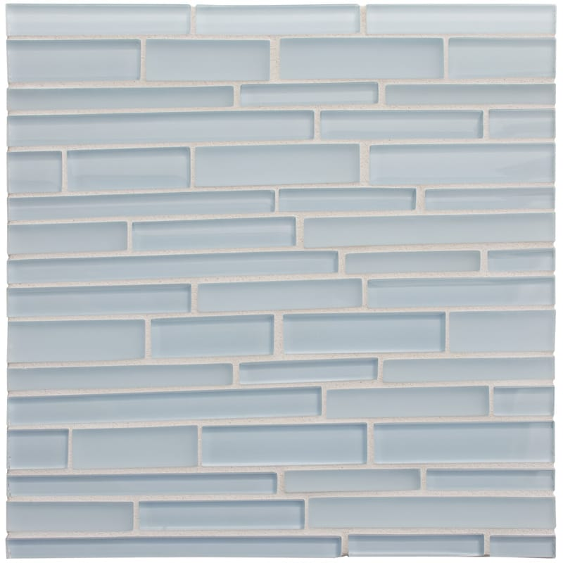 Breeze Gloss/matte 12x12 Interlocking Slides Glass Mosaics