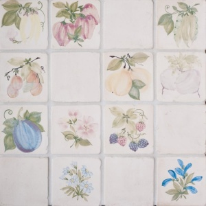 Fruit, Vegetable, Flower Glazed Ceramic Tiles 4x4