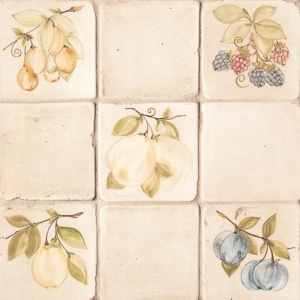 Fruit Glazed Ceramic Tiles 4x4