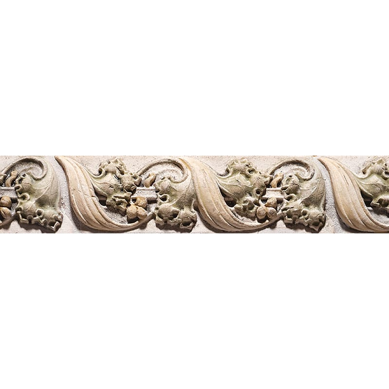 Grape Border Antiqued Architectural Ceramic Wall Deco 7 7/8x2 1/2