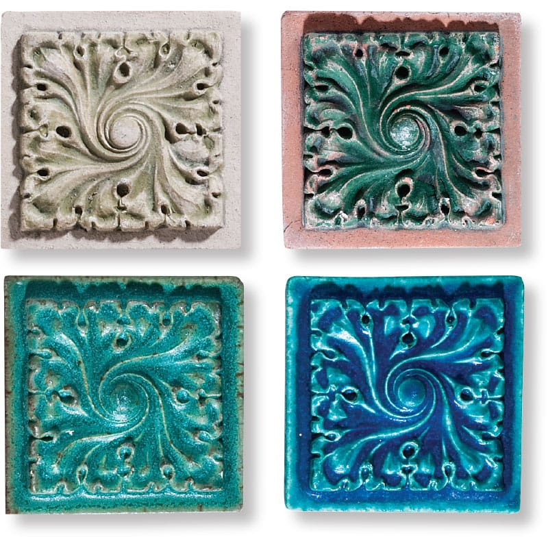 Gothic Field Antiqued Architectural Ceramic Wall Deco 4x4