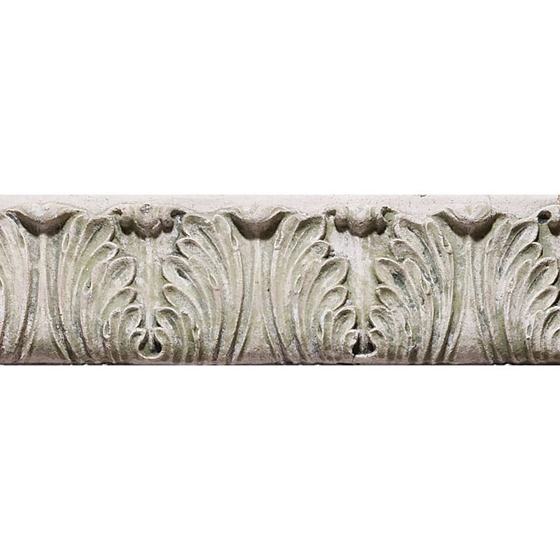 Acanthus Border Antiqued Architectural Ceramic Mouldings 9 1/4x2 1/2