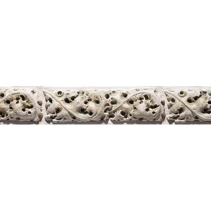 Gothic Border Antiqued 7 7/8x2 1/2 Architectural Ceramic Moulding