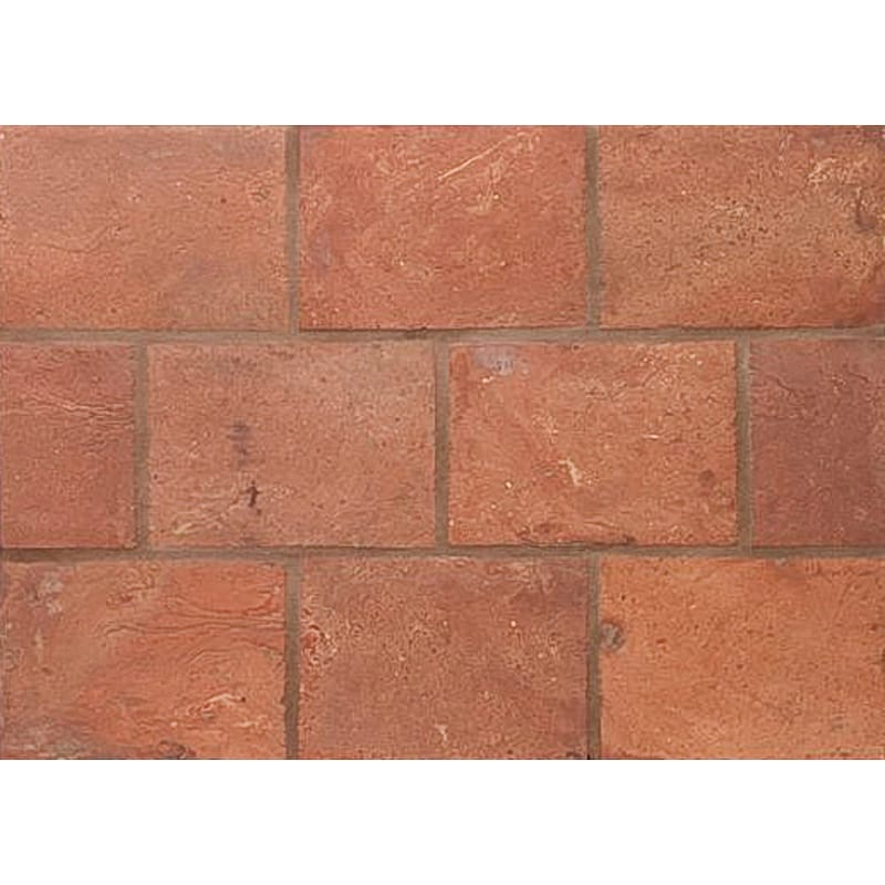 Atwl Dark Antiqued 5 3/4x11 3/4 Rectangle Terracotta Mosaic