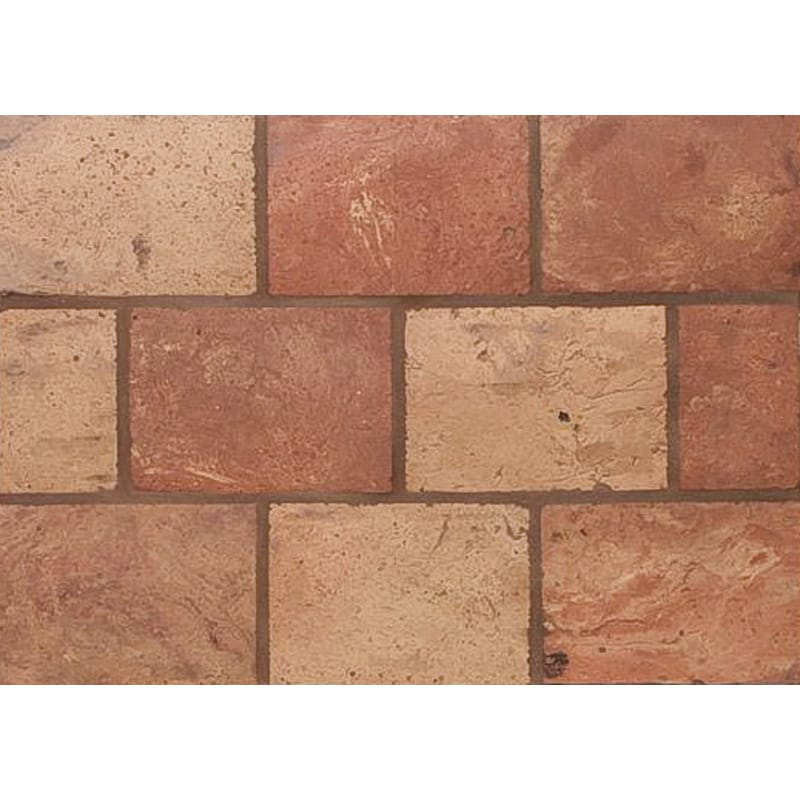 Atwl Blend Antiqued Rectangle Terracotta Mosaics 5 3/4x11 3/4