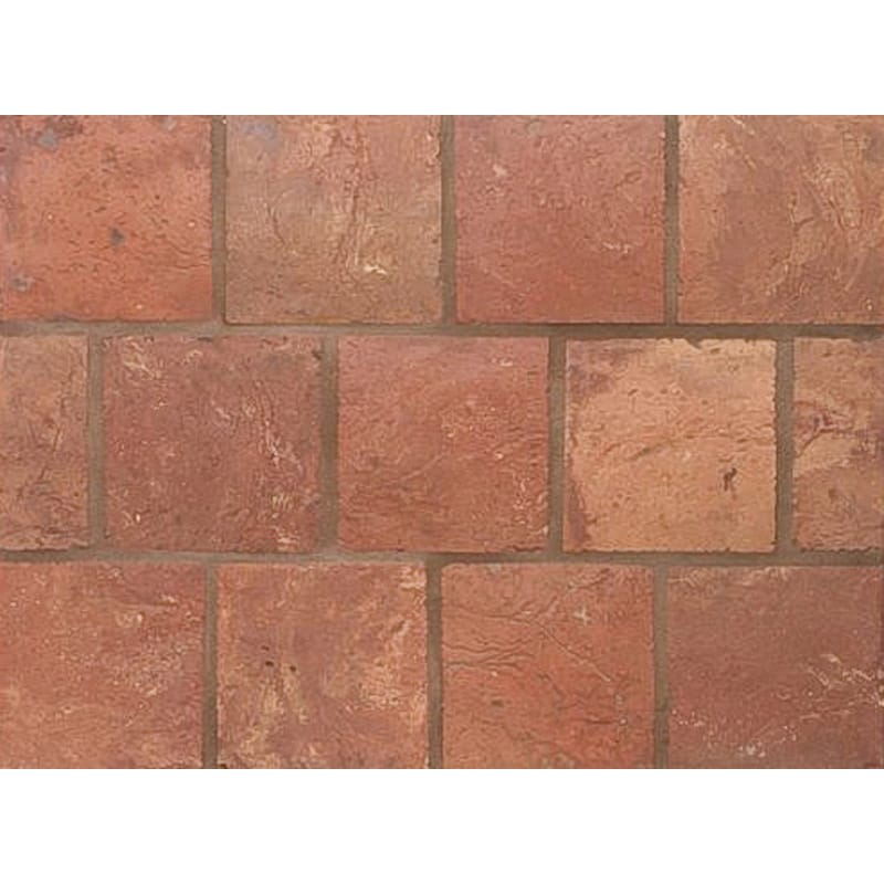 Atog Dark Antiqued Square Terracotta Mosaics 5 3/4x5 3/4