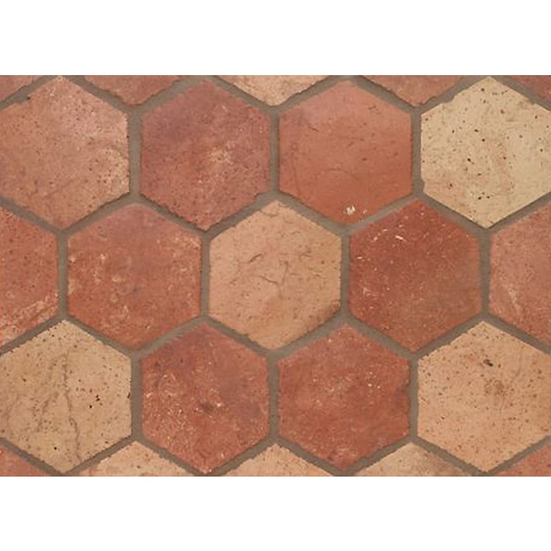 Atog Blend Antiqued Terracotta Mosaics 2 3/4x5 3/4