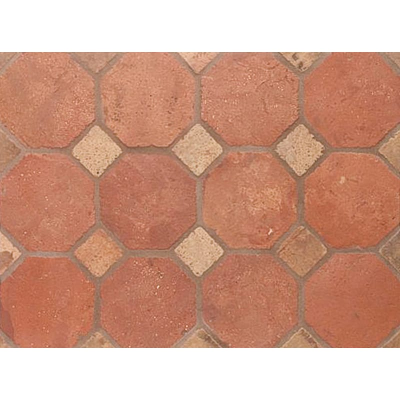 Atog Dark Antiqued Octagon Terracotta Mosaics 5 7/8x5 7/8
