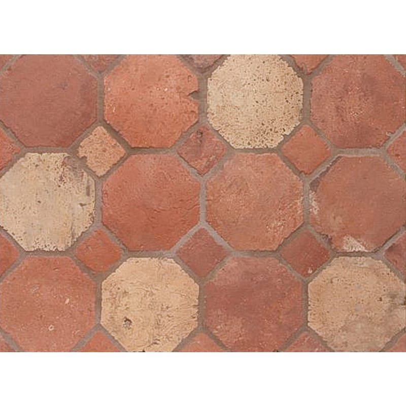 Atog Blend Antiqued Octagon Terracotta Mosaics 5 7/8x5 7/8