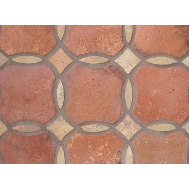 Atog Dark Antiqued 5 3/4x5 3/4 Rectangle Terracotta Mosaic