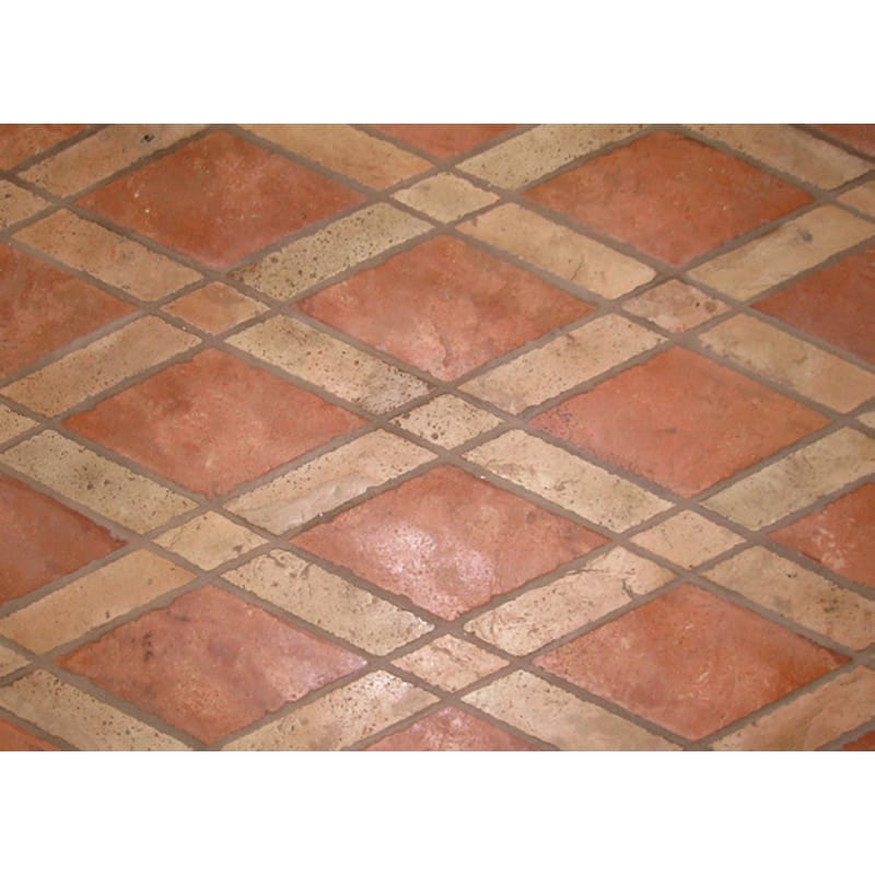 Atog Dark Antiqued Terracotta Mosaics 5 3/4x5 3/4