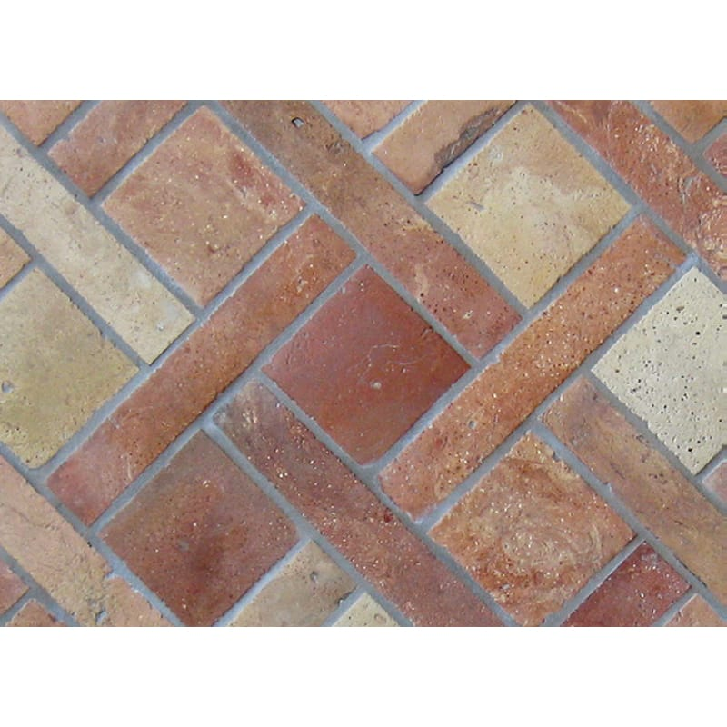 Atog Blend Antiqued Terracotta Mosaics 5 3/4x5 3/4