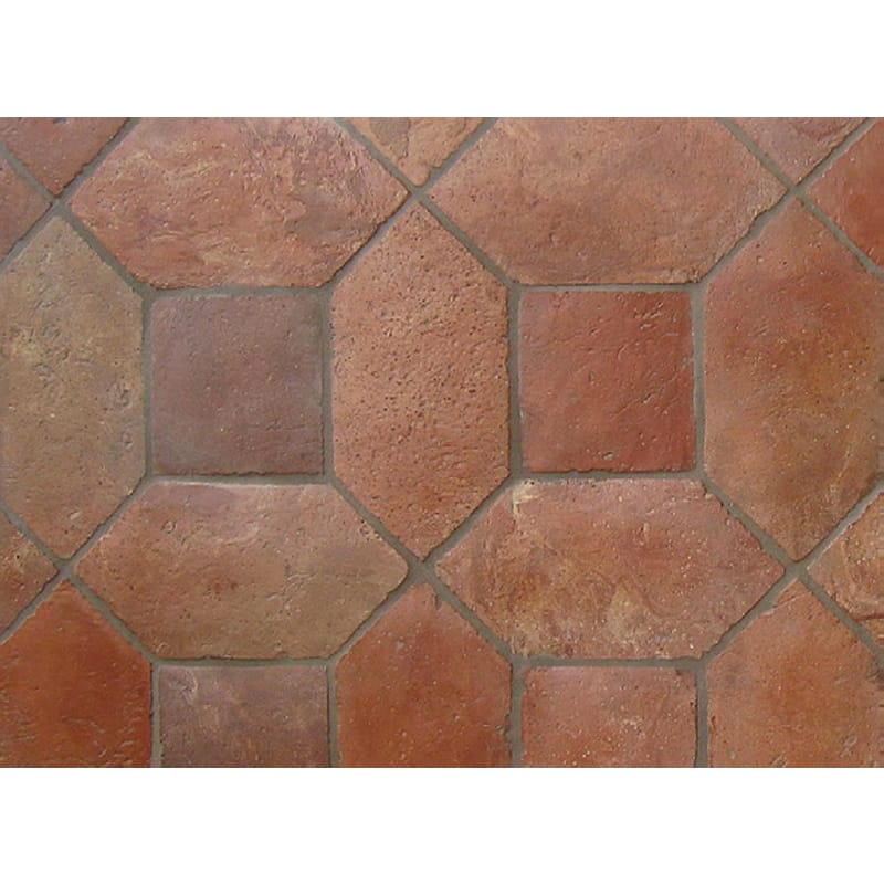 Atog Dark Antiqued 5 7/8x5 7/8 Terracotta Mosaic