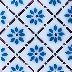 Giverny Deco 1 Glazed Ceramic Tiles 4x4