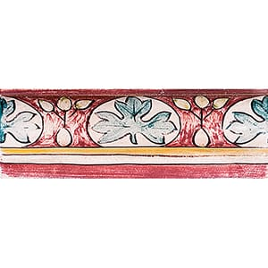 Chianti Antico Glazed Ogee Ceramic Borders 2x6