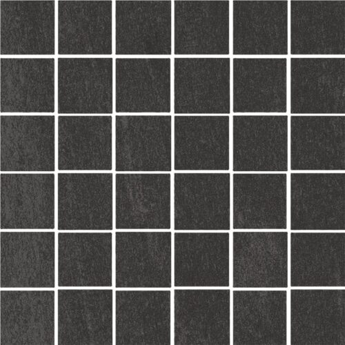 Atelier Black Honed 2×2 Porcelain Mosaics 12×12