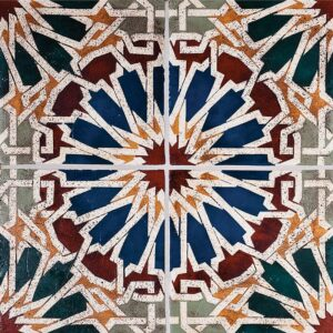 Sheherazade-10 Glazed Ceramic Tiles 6x6