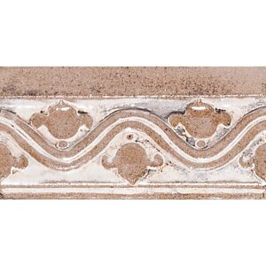 Bellflower Crown Crmware Glazed Ceramic Borders 3x6