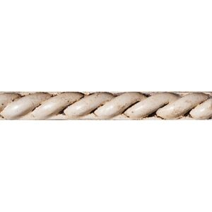 Biscuit Glazed Rope Ceramic Moldings 1x6