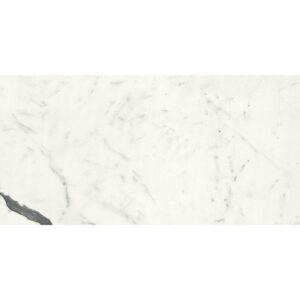 Bianco Statuario Polished Porcelain Tiles 12x24