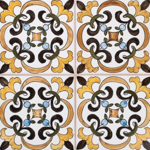 224 Roseira Parda Glazed Ceramic Tiles 5 1/2x5 1/2