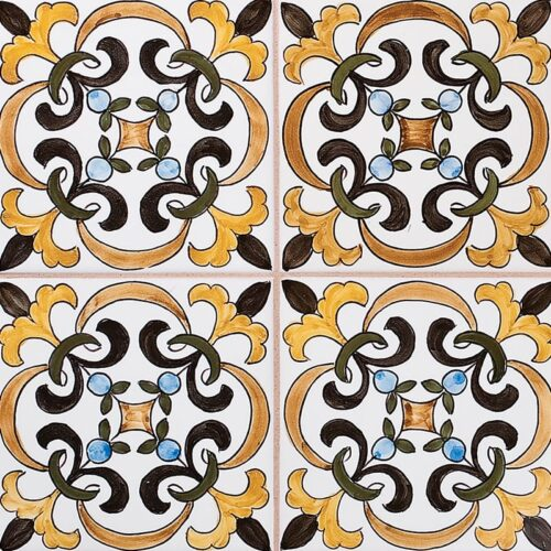 224 Roseira Parda Glazed Ceramic Tiles 5 1/2×5 1/2